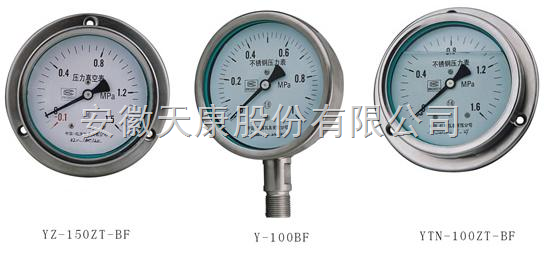 供应YBF/YBFN不锈钢压力表