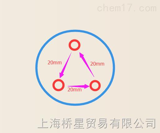 三角形琼脂打孔器10mm孔径3孔打孔器间距20mm