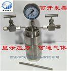 带压力表带阀门聚四氟乙烯高温水热合成反应釜