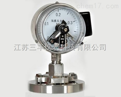 螺纹隔膜电接点压力表