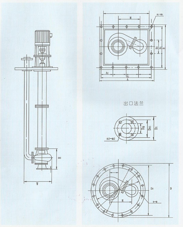 5 42 fy不锈钢液下泵结构与材料