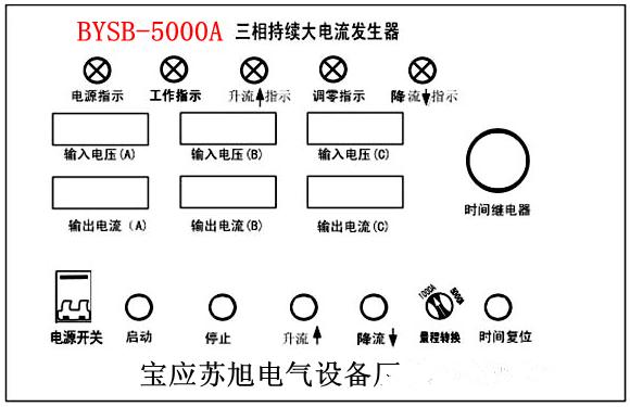 四,工作原理: 本系列产品按入工作电源后,通过调整调压器输出电压以
