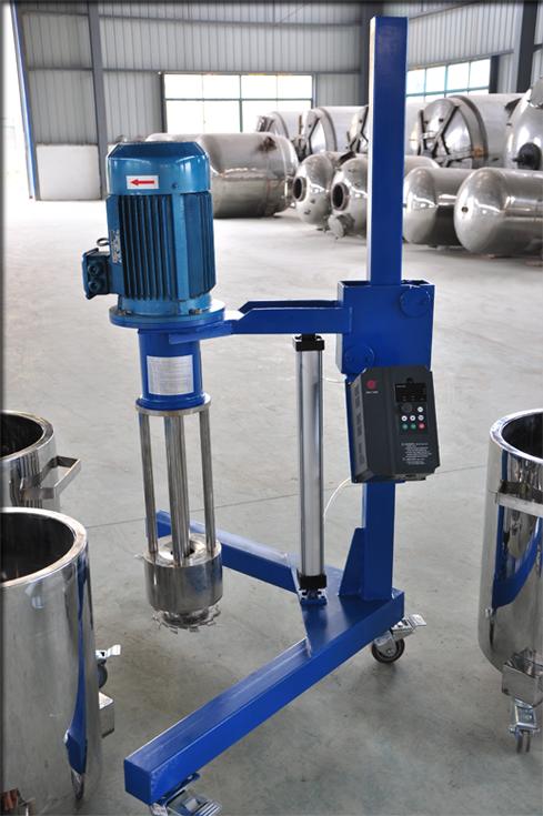 通过气阀旋转或电磁阀点动控制实现气缸工作,利用气缸升降带动电机图片