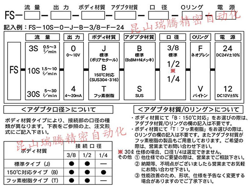 日本REGAL  JOINT叶轮式流量传感器FS-10S-4-J-S口径3/8?