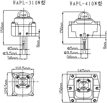 信号反馈开关限位开关盒接线图