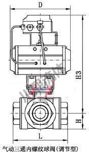 气动三通内螺纹球阀(调节型)