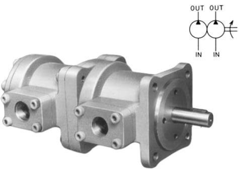 日本丰兴TOYOOKI 定量型双联叶片泵 HVP-FCC1、FCE1、FEE1 系列