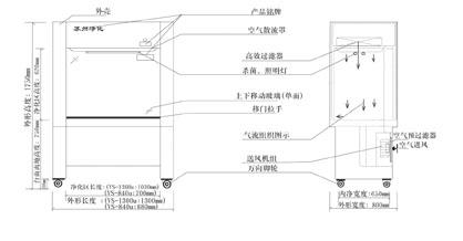 HS-840U水平层流单人净化工作台参数